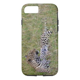 Leopard (Panthera pardus) resting in grass, iPhone 8/7 Case