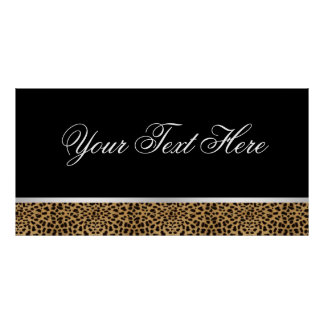 Leopard Party Banner Poster