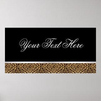 Leopard Party Banner Print