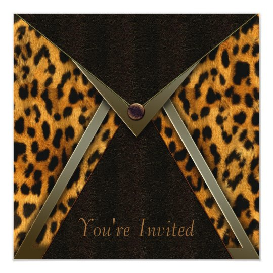 Leopard Party Invitation Template