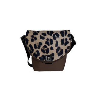 Leopard Pattern Abstract Mini Messenger Bag