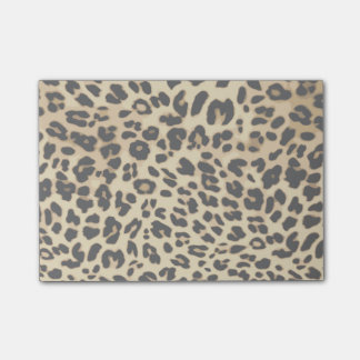 Leopard Pattern Animal Print Black/Gold Post-it Notes