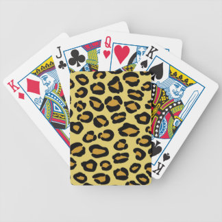 Leopard Pattern Bicycle Playing Cards