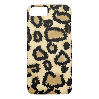 Leopard Pattern, Brown and Black. iPhone 8/7 Case