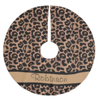 Leopard Pattern Custom Brushed Polyester Tree Skirt