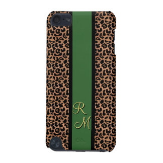 Leopard Pattern Custom Monogrammed iPod Touch (5th Generation) Covers