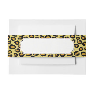 Leopard Pattern Invitation Belly Band