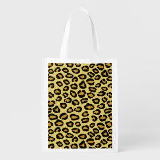 Leopard Pattern Reusable Grocery Bag