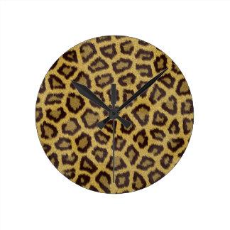 leopard pattern round clock