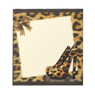 Leopard Pattern Shoes personalized Notepad