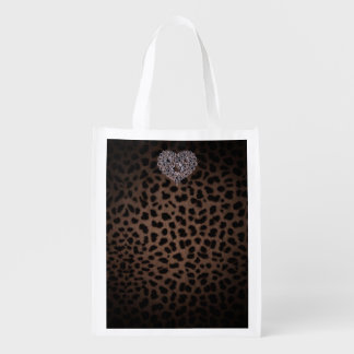 leopard pattern with heart bag