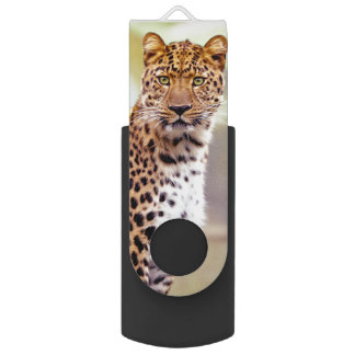 Leopard Photograph Image USB Flash Drive
