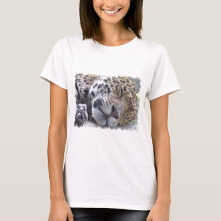 Leopard Picture Ladies Fitted T-Shirt
