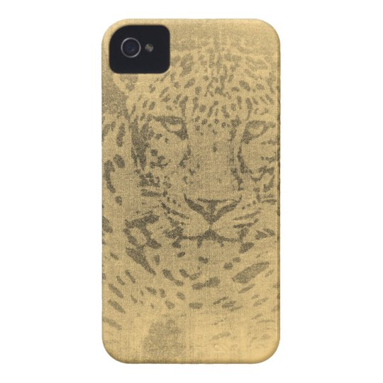 Leopard Portrait Vintage iPhone Case
