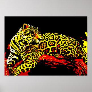 Leopard Poster Print - Pop Art Wild Animal Artwork