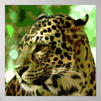 Leopard Poster Print - Pop Art Wild Animals