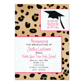 Leopard Print 2012 Graduation Announcement