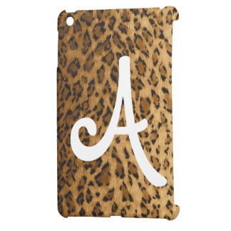 Leopard Print A monogram initials iPad Mini Cover