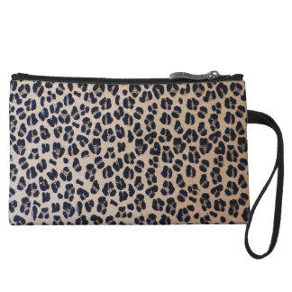 Leopard Print Abstract Fashion Mini Clutch Wristlet Purse