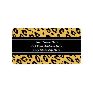Leopard print address labels