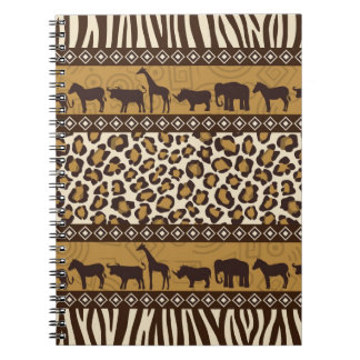 Leopard Print and African Animals Journals