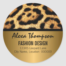 Leopard Print and Gold Look