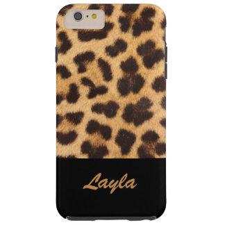 Leopard Print Animal Fur Personalised Tough iPhone 6 Plus Case
