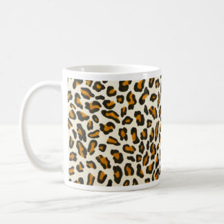 Leopard print animal skin coffee mug