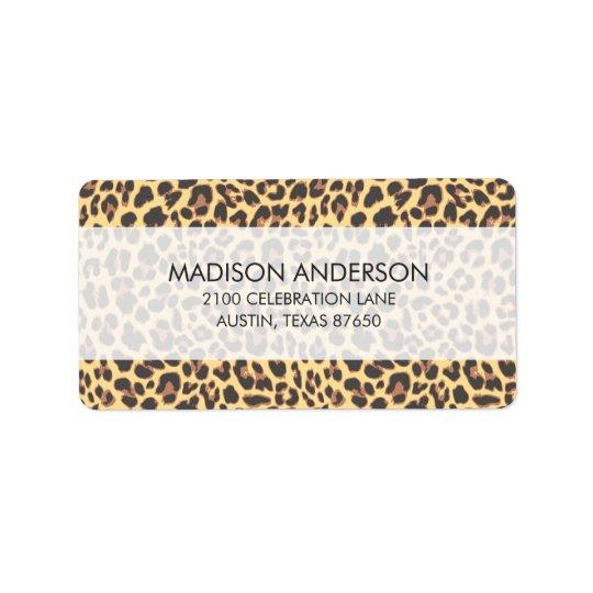 Leopard Print Animal Skin Pattern Address Label