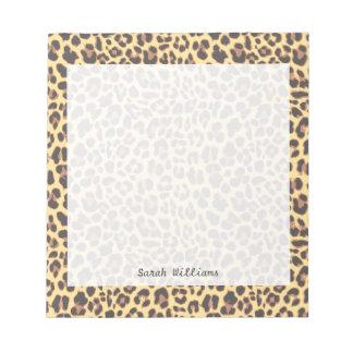 Leopard Print Animal Skin Pattern Notepad