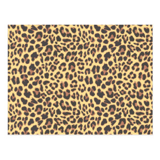 Leopard Print Animal Skin Pattern Postcard