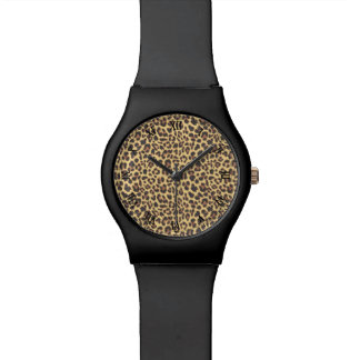Leopard Print Animal Skin Pattern Watch
