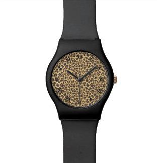 Leopard Print Animal Skin Pattern Watch