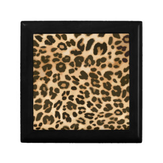 Leopard Print Background Gift Box