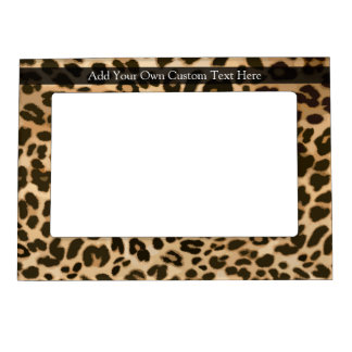 Leopard Print Background Magnetic Picture Frame