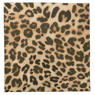 Leopard Print Background Napkin