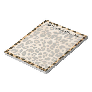 Leopard Print Background Notepad