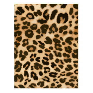 Leopard Print Background Postcard
