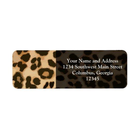 Leopard Print Background Return Address Label