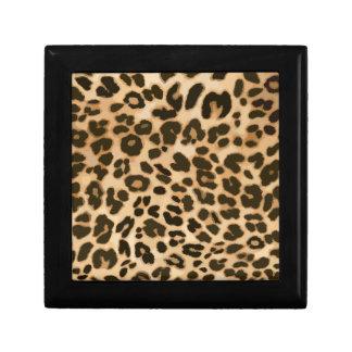 Leopard Print Background Small Square Gift Box