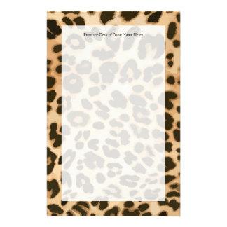 Leopard Print Background Stationery
