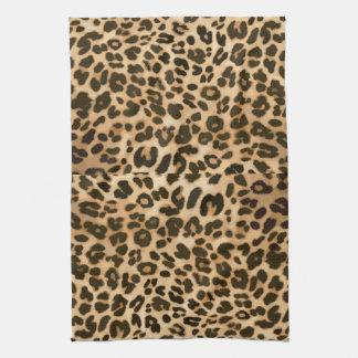 Leopard Print Background Tea Towel