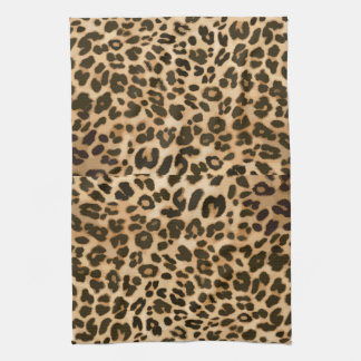 Leopard Print Background Towel
