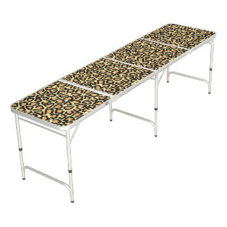Leopard Print Beer Pong Table