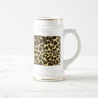 Leopard Print Beer Stein Coffee Mug