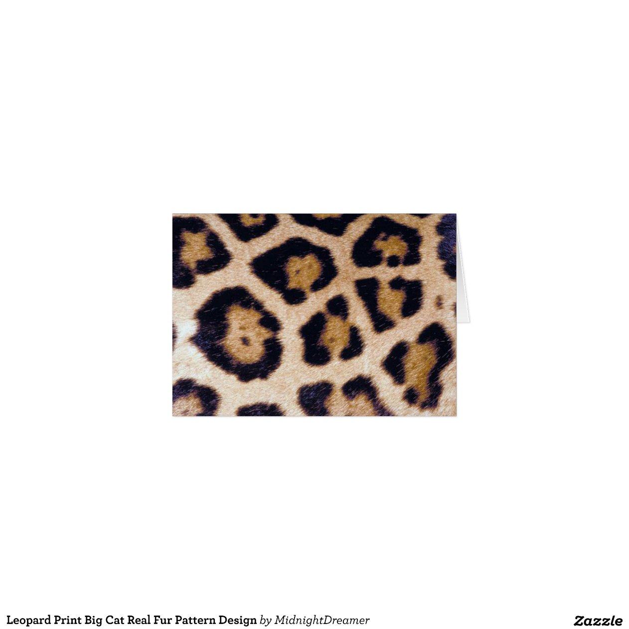 Leopard Print Big Cat Real Fur Pattern Design | Zazzle