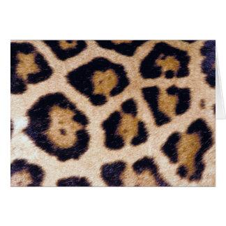 Leopard Print Big Cat Real Fur Pattern Design Card