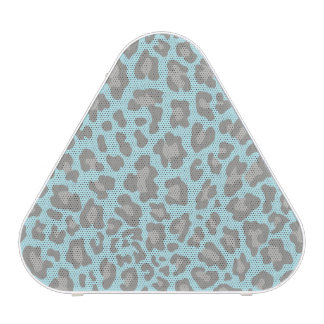 Leopard Print Blue and Gray