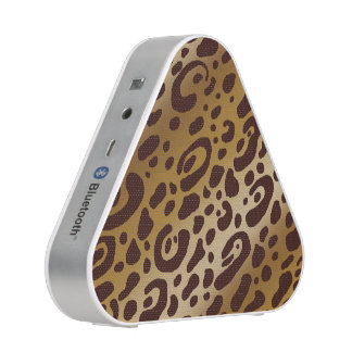 Leopard Print Bluetooth Silver Speakers