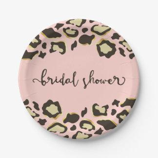 Leopard Print | Blush Pink | Bridal Shower Paper Plate